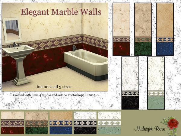 Sims 4 MRC Elegant Marble Bathroom Walls by MidnightRose at TSR