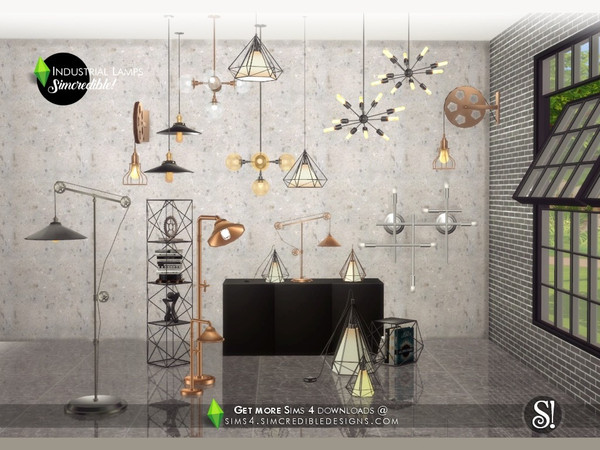 Industrial Lamps by SIMcredible at TSR image 3818 Sims 4 Updates