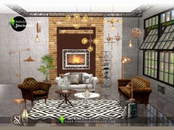 Industrial Lamps by SIMcredible at TSR image 3918 Sims 4 Updates