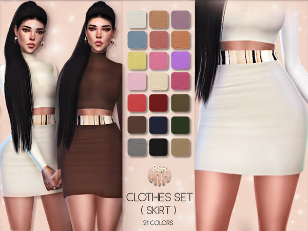 Sims 4 Clothes SET 01 SKIRT BD22 by busra tr at TSR