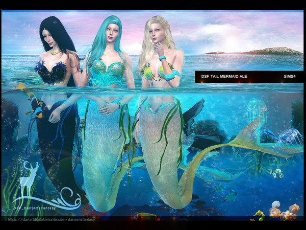 Sims 4 DSF TAIL MERMAID ALE by DanSimsFantasy at TSR