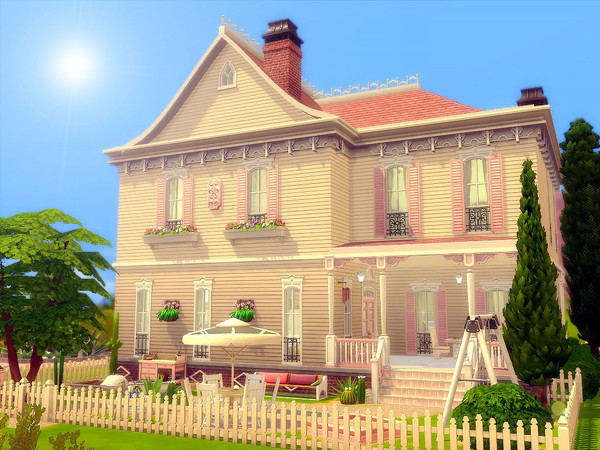 Sims 4 Pink Swan House Nocc by sharon337 at TSR