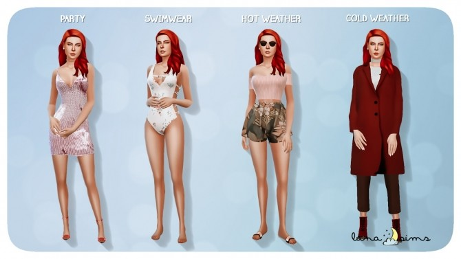 Sims 4 NINA CALIENTE at Luna Sims