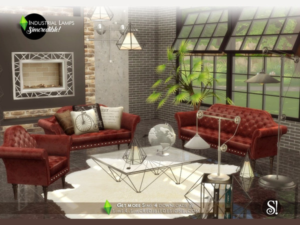 Industrial Lamps by SIMcredible at TSR image 4220 Sims 4 Updates