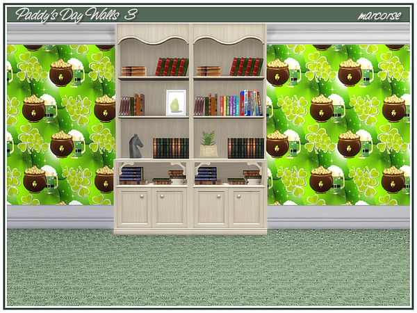 Paddys Day Walls by marcorse at TSR image 428 Sims 4 Updates