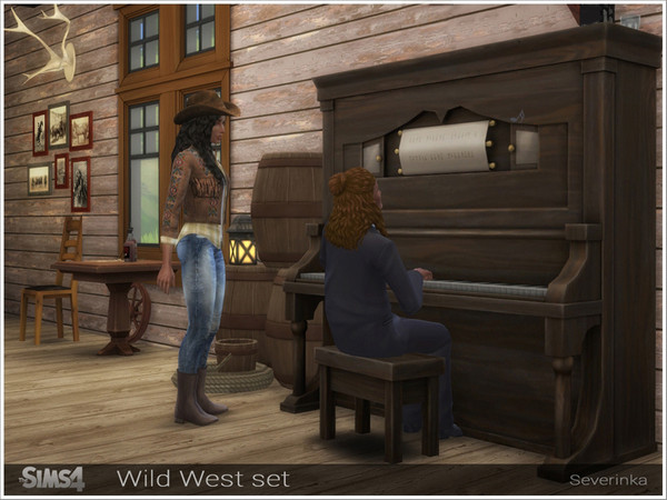 Sims 4 Wild West set by Severinka at TSR