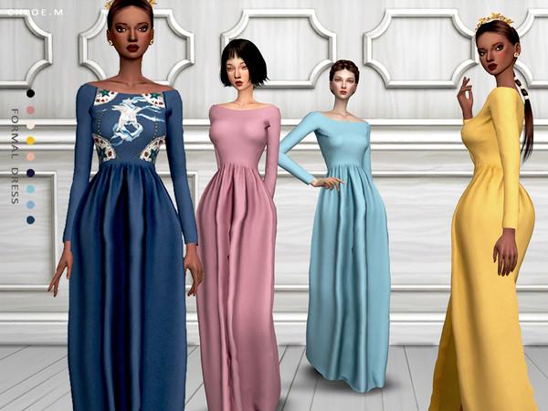Sims 4 Formal Dress by ChloeM at TSR