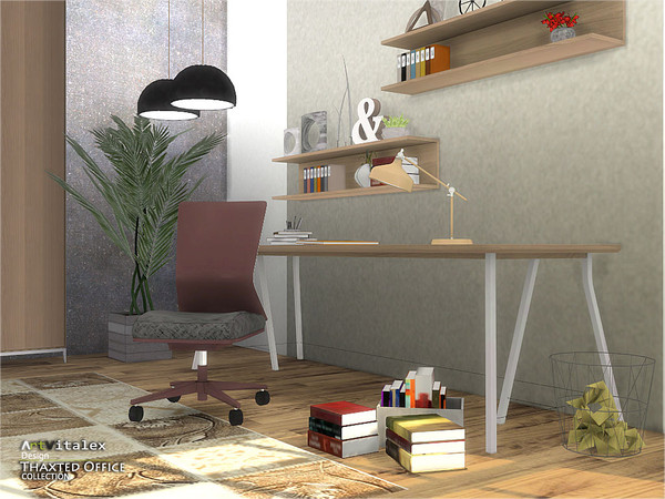 Sims 4 Thaxted Office by ArtVitalex at TSR