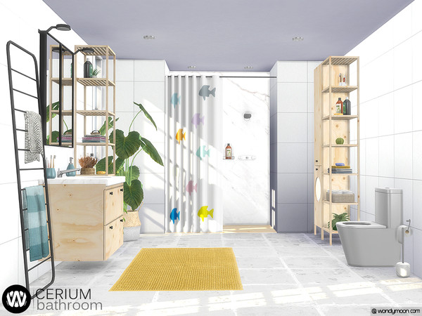 Cerium Bathroom by wondymoon at TSR image 4616 Sims 4 Updates