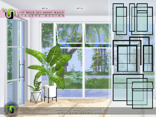 Lyne Build Set IV Three Quarters Windows and Doors by NynaeveDesign at TSR image 46181 Sims 4 Updates