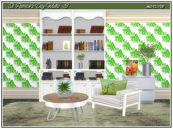 St. Patricks Day Walls by marcorse at TSR image 469 Sims 4 Updates