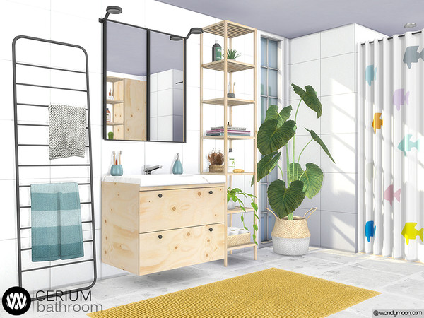 Cerium Bathroom by wondymoon at TSR image 4715 Sims 4 Updates