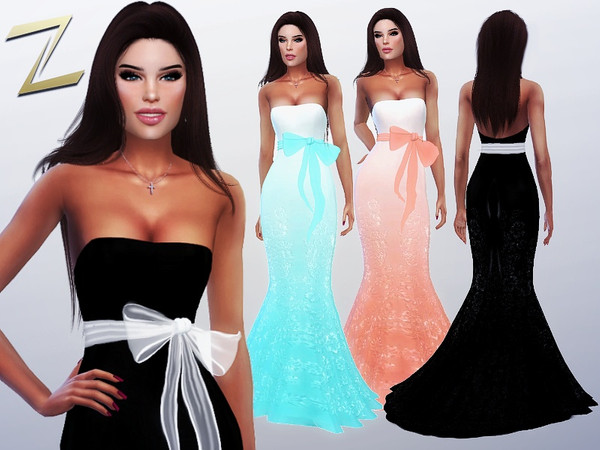 Sims 4 Kiki Evening Dress by ZitaRossouw at TSR