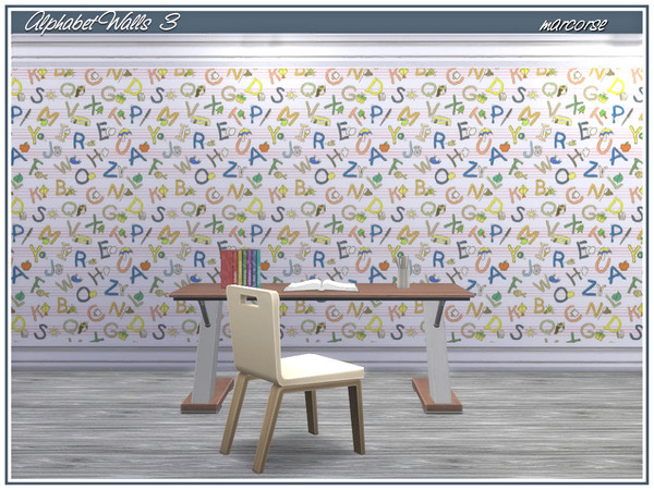 Alphabet Walls by marcorse at TSR image 490 Sims 4 Updates