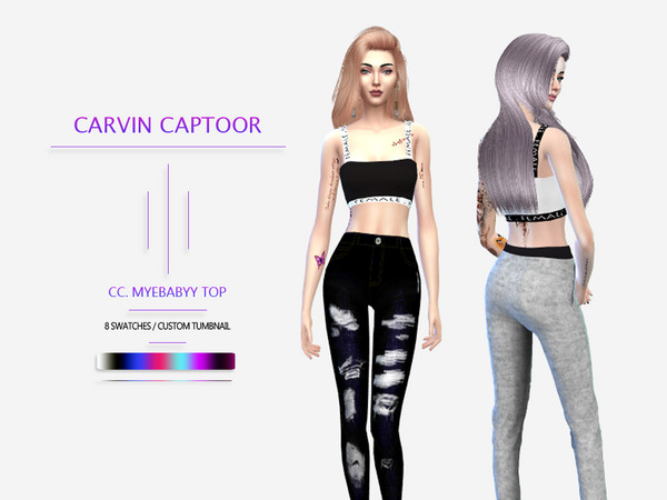 Sims 4 Myebabyy top by carvin captoor at TSR