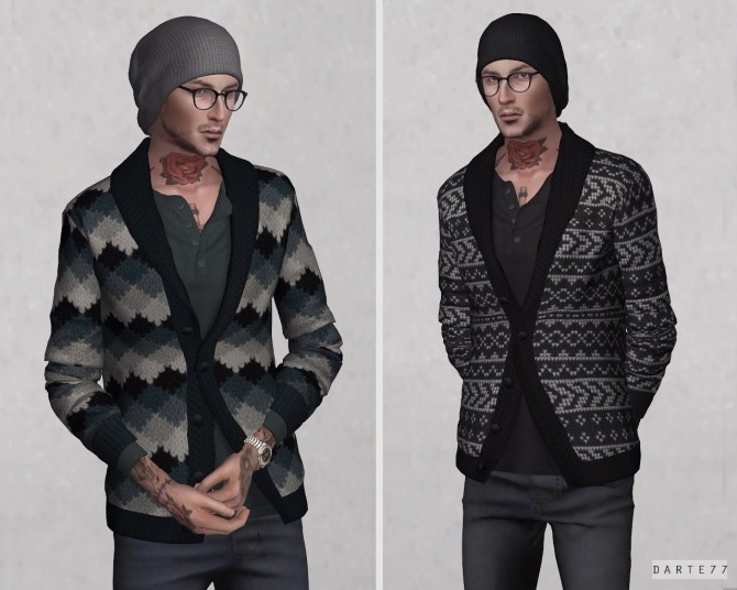 Shawl Collar Sweater at Darte77 image 4917 670x536 Sims 4 Updates