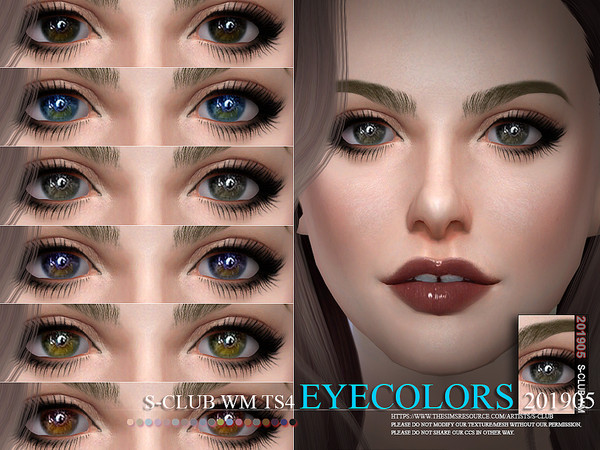 Sims 4 Eyecolors 201905 by S Club WM at TSR