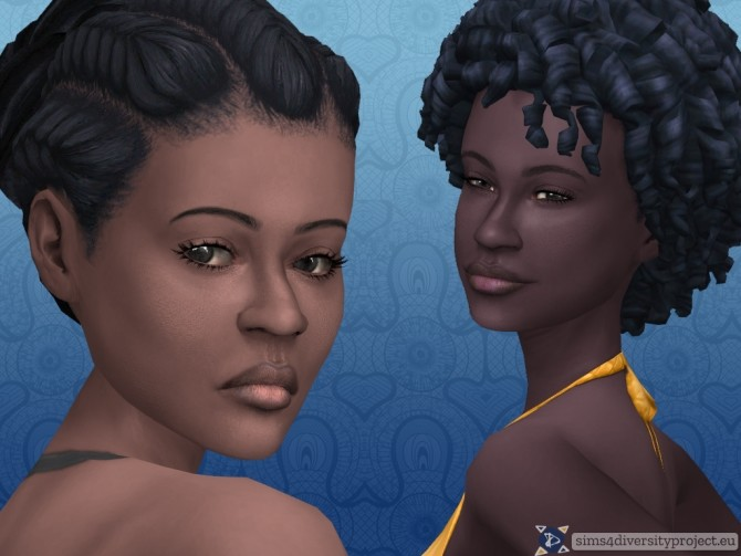 Sims 4 Universal face overlay at Sims 4 Diversity Project