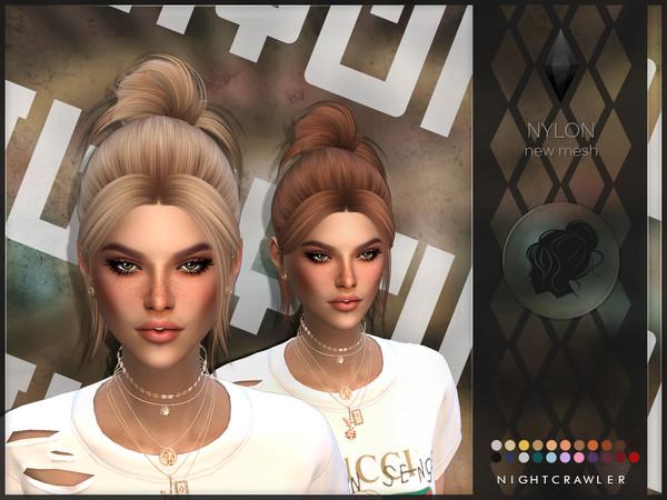 Sims 4 Nylon hair by Nightcrawler at TSR