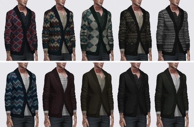 Sims 4 Shawl Collar Sweater at Darte77