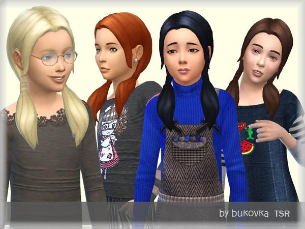 Sims 4 Braids Hairstyles by bukovka at TSR