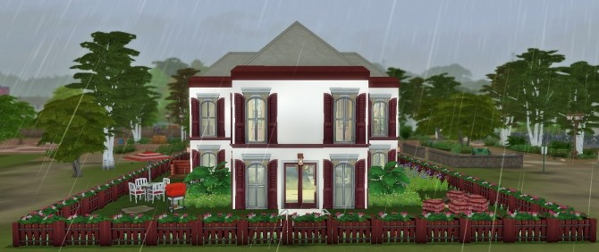 Red and White Home by heikeg at Mod The Sims image 5118 670x282 Sims 4 Updates