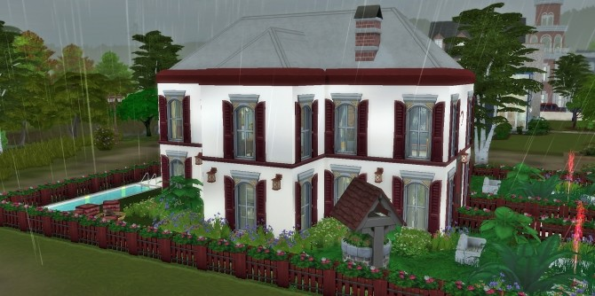 Red and White Home by heikeg at Mod The Sims image 5214 670x334 Sims 4 Updates