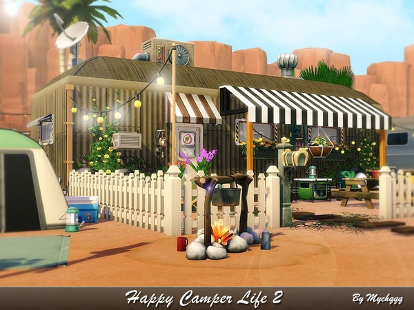 Happy Camper Life 2 by MychQQQ at TSR image 522 Sims 4 Updates