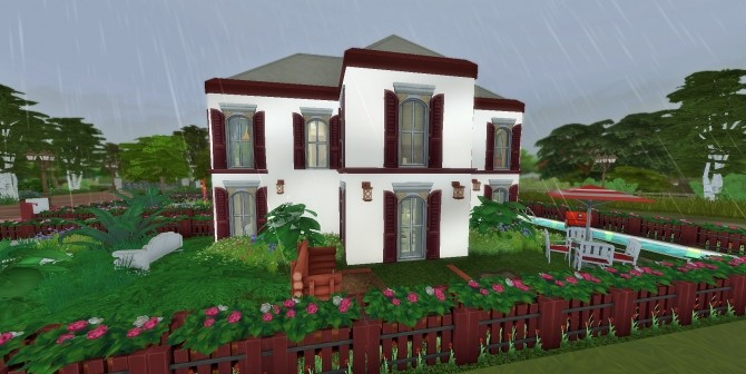 Red and White Home by heikeg at Mod The Sims image 5314 670x336 Sims 4 Updates