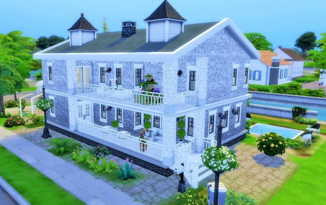 Sims 4 Home by the river by heikeg at Mod The Sims