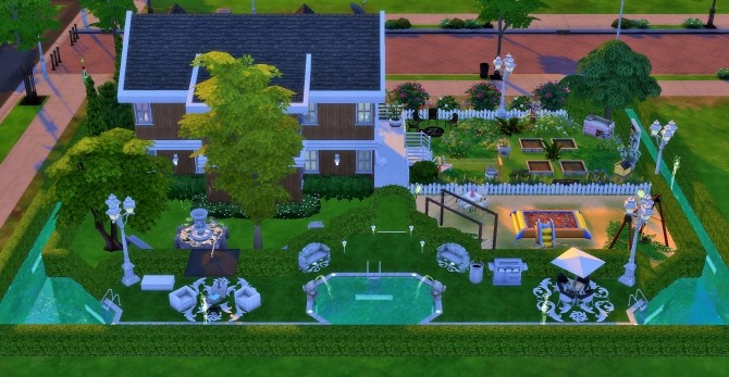 Sims 4 Home with big pool by heikeg at Mod The Sims