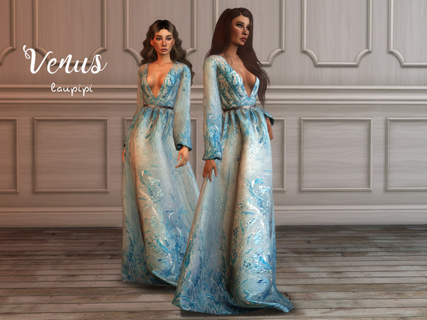 Venus embellished gown by laupipi at TSR image 559 Sims 4 Updates