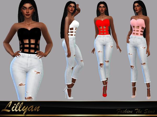 Sims 4 Top Lyria by LYLLYAN at TSR