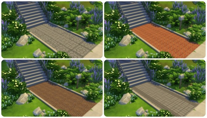 Sims 4 TS2 to TS4 Brick Floor Tiles by simsi45 at Mod The Sims