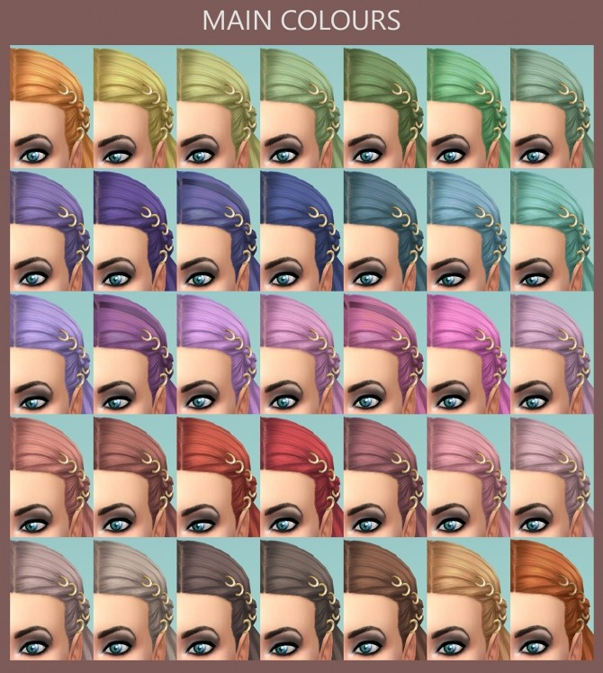 Braids with Rings 58 Recolours by Simmiller at Mod The Sims image 5717 670x748 Sims 4 Updates