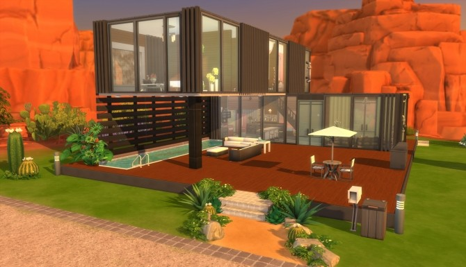 Sims 4 Cozy Container Home by NayNikole at Mod The Sims