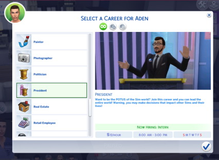 Sims 4 President Bundle (P) at Sims Lover