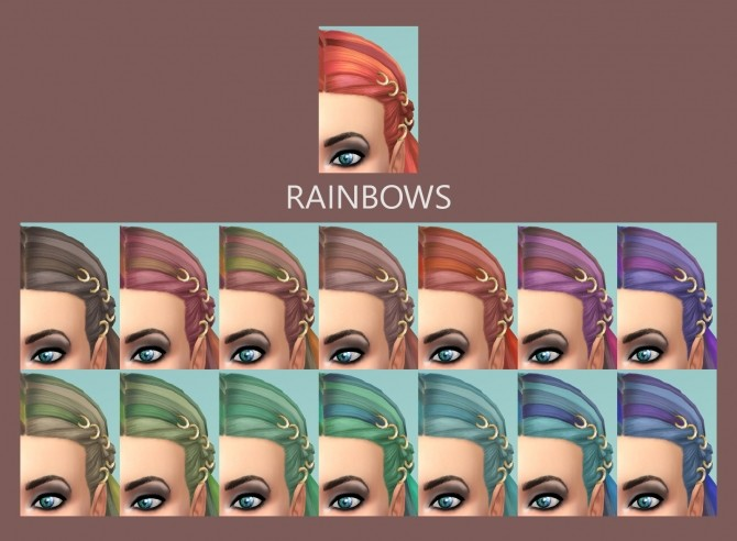 Braids with Rings 58 Recolours by Simmiller at Mod The Sims image 5818 670x492 Sims 4 Updates
