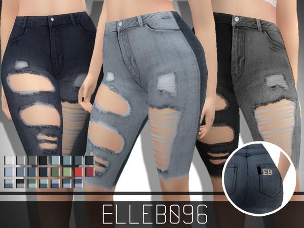 Sims 4 Ripped Denim Shorts by Elleb096 at TSR