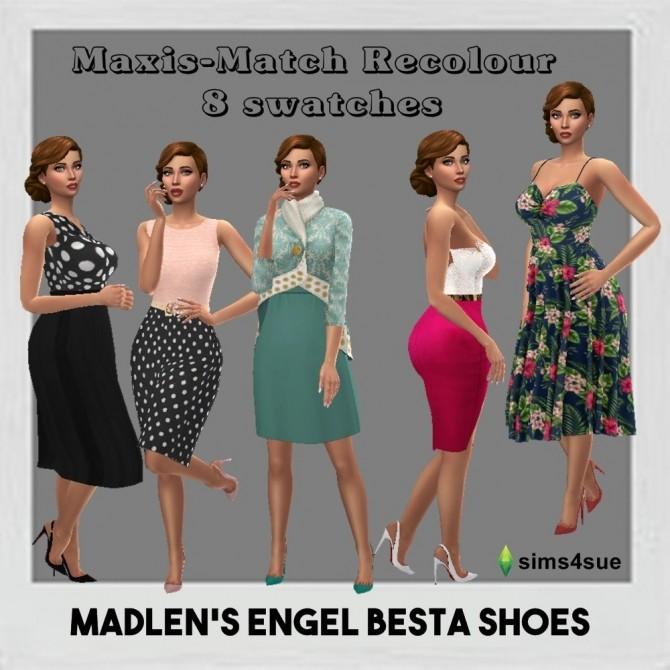 Sims 4 MADLEN'S ENGEL BESTA SHOES RECOLOUR at Sims4Sue
