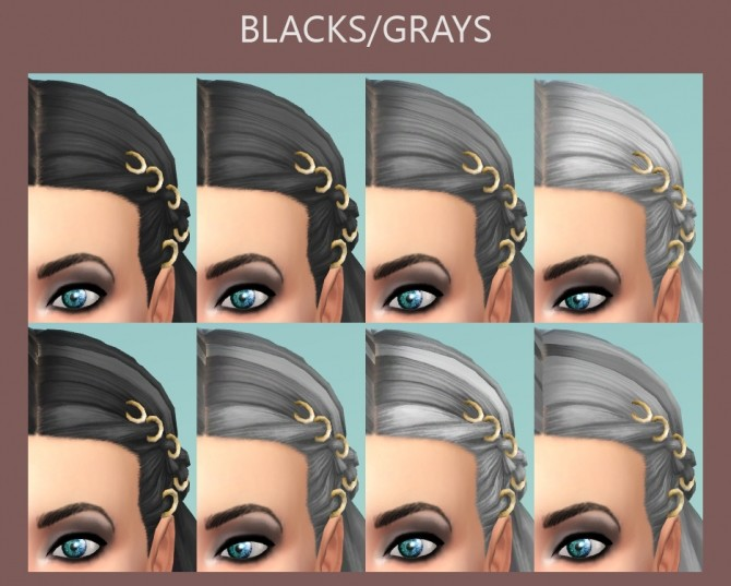 Braids with Rings 58 Recolours by Simmiller at Mod The Sims image 5919 670x537 Sims 4 Updates