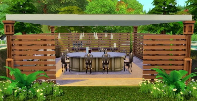 Sims 4 Brick house by heikeg at Mod The Sims