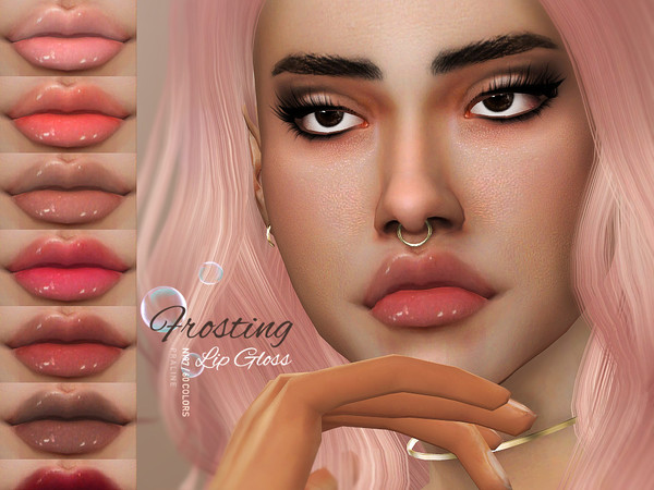 Frosting Lip Gloss N197 by Pralinesims at TSR image 602 Sims 4 Updates