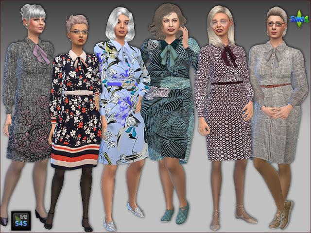 Sims 4 Dresses for seniors by Mabra at Arte Della Vita