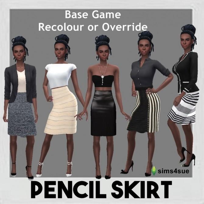 Sims 4 BASE GAME PENCIL SKIRT at Sims4Sue