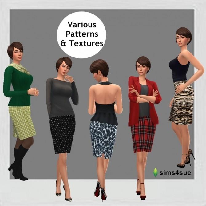 BASE GAME PENCIL SKIRT at Sims4Sue image 6411 670x670 Sims 4 Updates