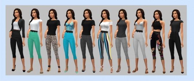 Sims 4 GP04 HIGH WAISTED CAPRIS at Sims4Sue