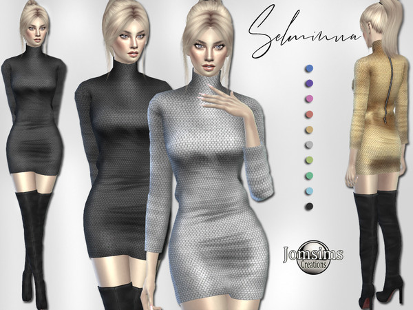 Selminua dress by jomsims at TSR image 652 Sims 4 Updates