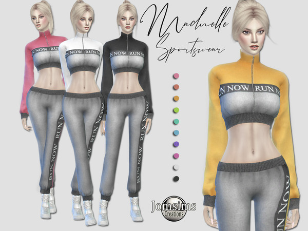 Sims 4 Madnelle sportswear by jomsims at TSR