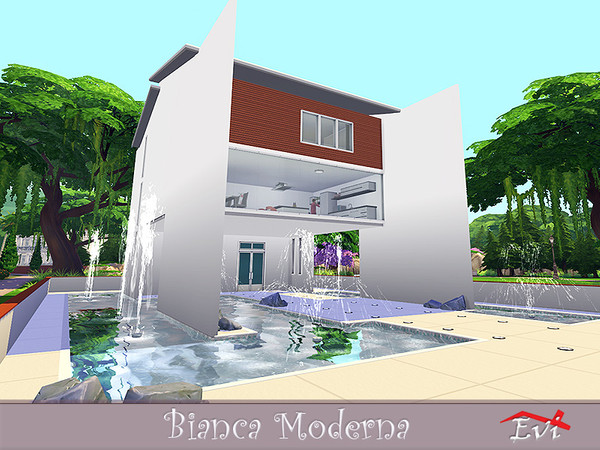 Sims 4 Bianca Moderna house by evi at TSR